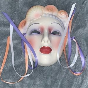 Other - Porcelain Face Mask Wall Decor